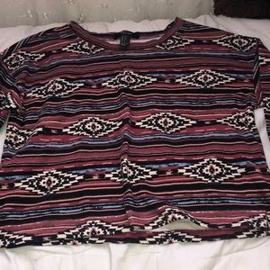 Tribal print long sleeve forever21